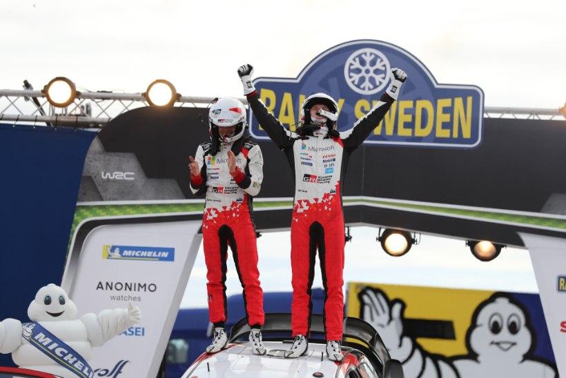 VÕIMAS! Tänak ja Järveoja võitsid esimeste eestlastena Rootsi ralli!
