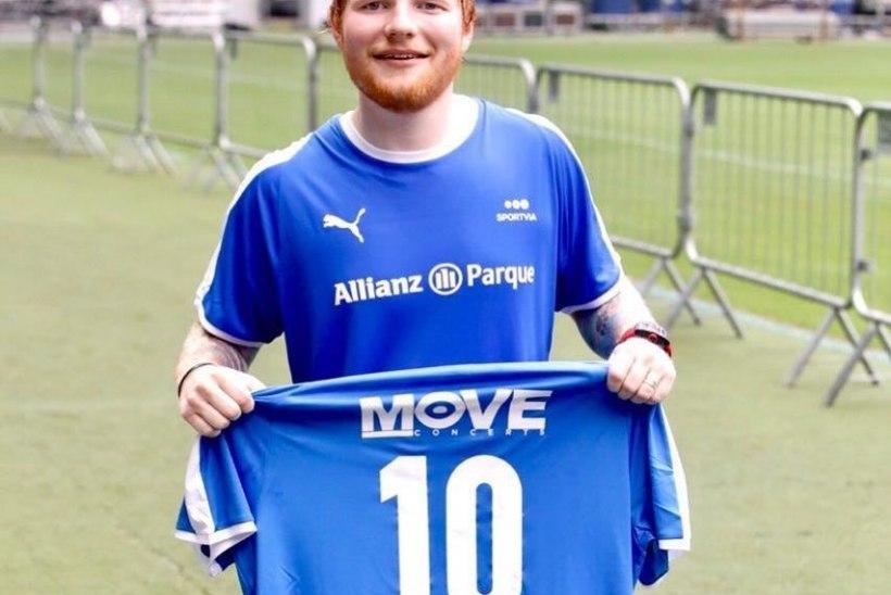 VIDEO | Ed Sheeran pärast algajalikku eksimust: Madridi Real, palun paku mulle lepingut