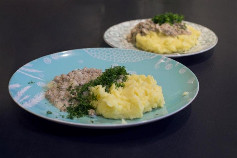 Jürgen Ligi juustune hakklihakaste ja kartulipuder