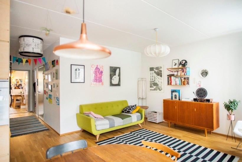FOTOD | Noorte disainerite kodu, mis on täis värvi- ja detailimänge