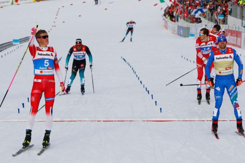 SEEFELDI MM   Ustjugov tahtis Kläbole vastu hambaid lajatada, norralane võitis elu esimese MM-kulla