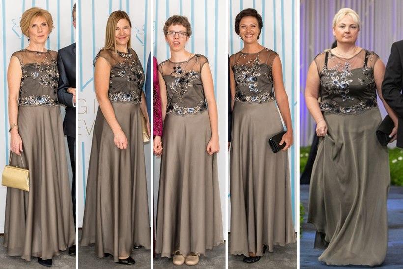 FOTOD | Populaarne valik! Viis naist kandsid presidendi vastuvõtul ühesugust kleiti