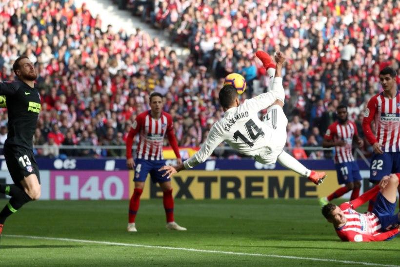 VIDEO | Casemiro vajutas Atleticole poolkäärid, Bale jõudis uhke tähiseni