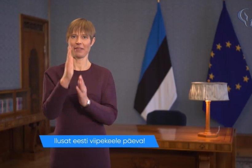 VIDEO | President ja ministrid tegid viipekeele päeva puhul viipekeeles tervituse