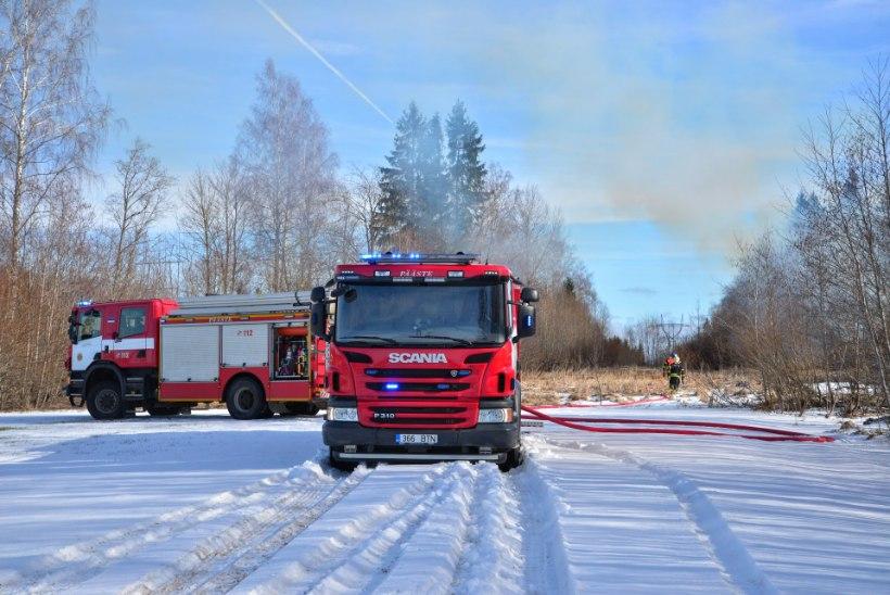 VIDEO JA FOTOD | Viljandimaal pani mees oma maja põlema ega lubanud päästjatel seda kustutada