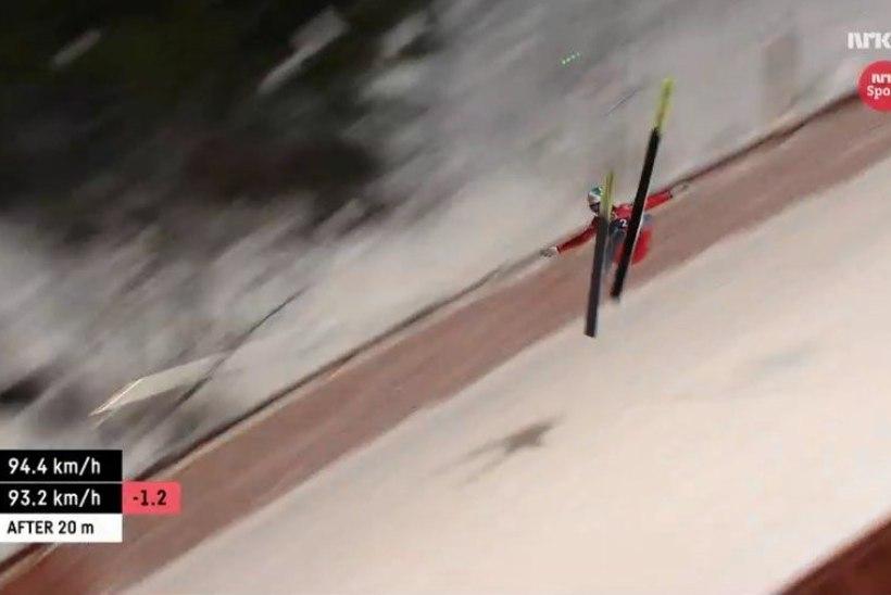 VIDEO | Soome suusahüppeneiu kukkus hirmuäratavalt selja peale