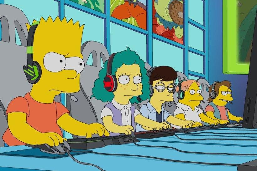 """Animasarja """"Simpsonid"""" värskeim episood võtab luubi alla e-spordi kireva maailma"""