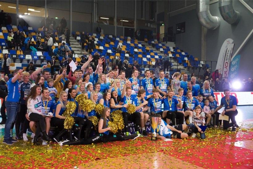 FOTOD   UUED TŠEMPIONID! Tartu mängis mitmel korral edu maha, aga surus Saaremaa lõpuks põlvini!