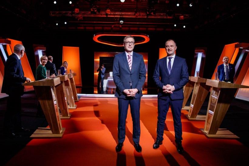 FOTOD & BLOGI | Valimiste lõpuheitlus: peaministrikandidaatide debatis paukusid kõik kahurid