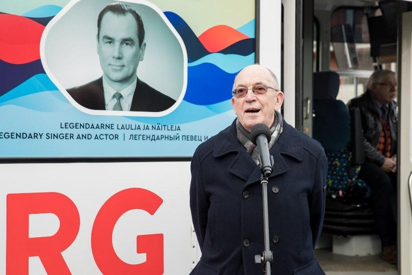 ÕL VIDEO JA FOTOD   Kadriorust saadeti teele Georg Otsale pühendatud tramm