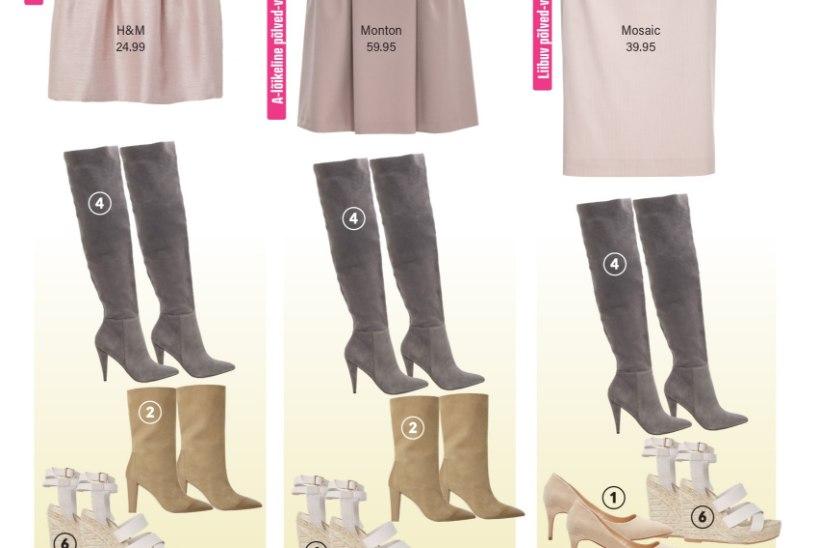 Kas madalad rihmikud sobivad iga seelikumudeliga? Klapita seelikut ja jalanõusid õigesti!