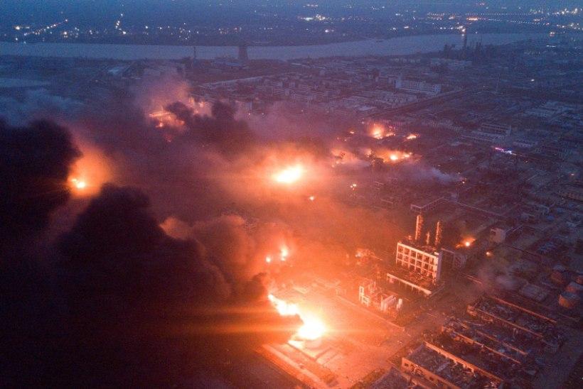 Hiina tehase plahvatuses on hukkunud 47 ja haavatud üle 600 inimese