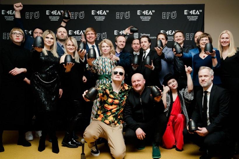 GALERII | Vaata, kes võidutsesid Eesti Muusikaettevõtluse Auhindade galal