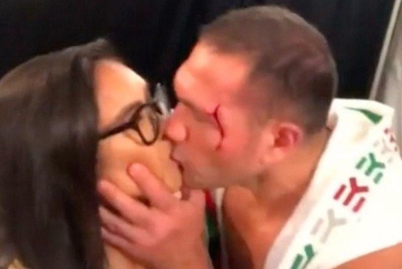 VIDEO | TOHO PIME! Bulgaaria poksija üllatas naisreporterit intervjuu lõpus suudlusega