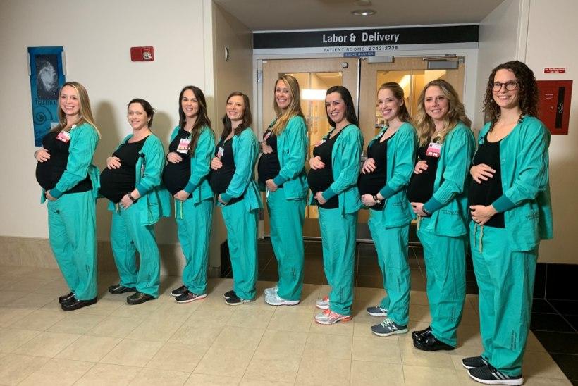 TOHOH! Ühes haiglas jäid üheksa medõde samal ajal rasedaks