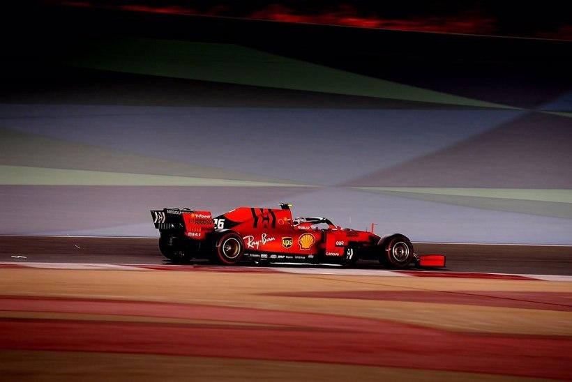 Bahreini GP: Ferrari draama! Tehniline rike röövis Leclerci võidu, Vettel rikkus ise oma sõidu