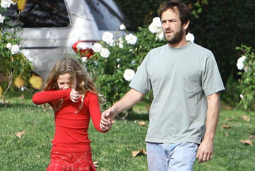 Luke Perry 18aastane tütar tõttas isa surivoodile Aafrikast