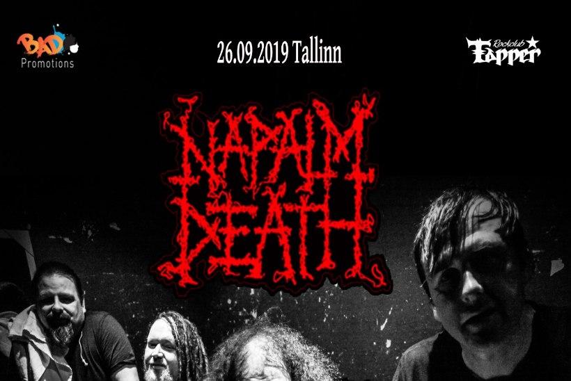 Legendaarne Napalm Death esineb sügisel Tallinnas