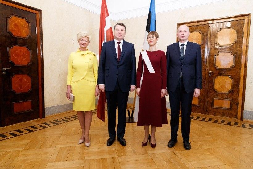 GALERII | KOLMEPÄEVANE RIIGIVISIIT SAI HOO SISSE: Läti presidendipaar kohtub Kadriorus Eesti esipaariga