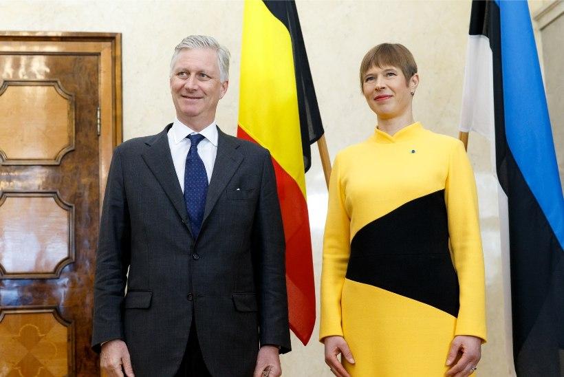 FOTOD | STIILNE AUSTUSAVALDUS: president Kaljulaid tervitab riigijuhte nende kodumaa lipuvärvides