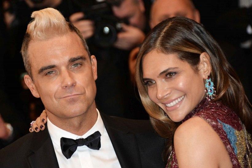 Robbie Williams ja tema naine lahkuvad talendisaatest