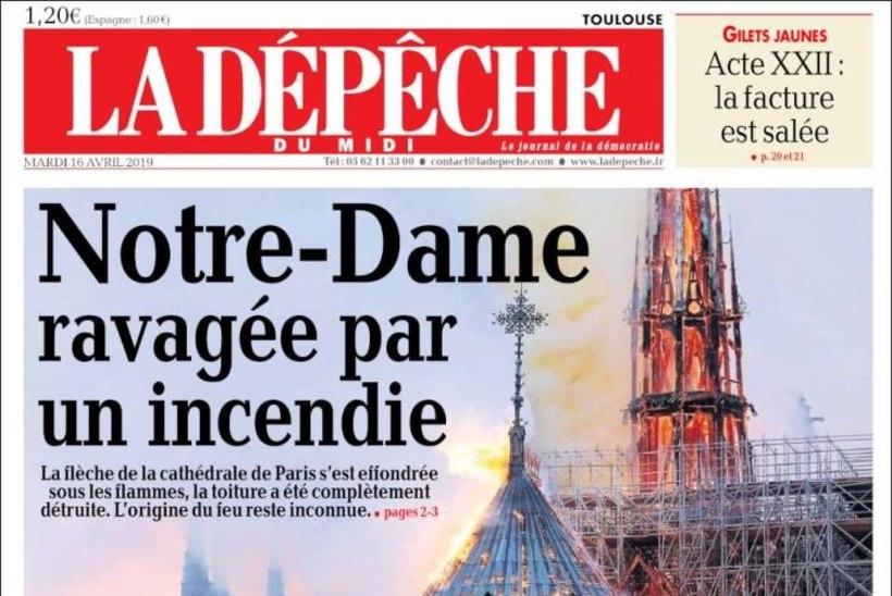 GALERII   Vaata, millised on ajalehtede esiküljed pärast Notre-Dame'i põlengut!