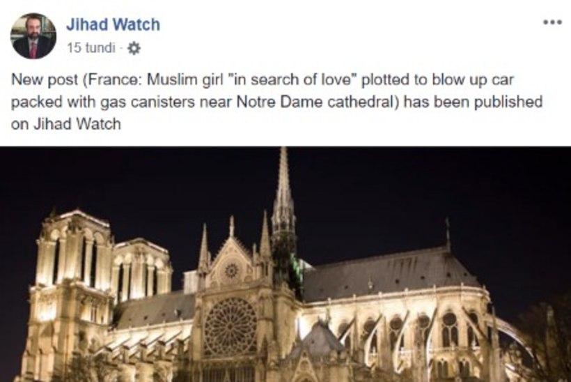 VANDENÕUD: Pariisi Jumalaema kiriku põlengu taga olid terroristid