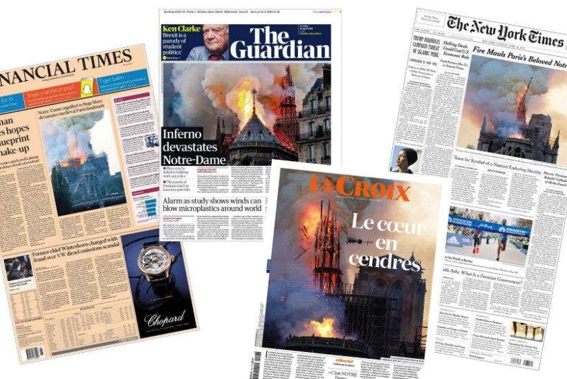 GALERII | Vaata, millised on ajalehtede esiküljed pärast Notre-Dame'i põlengut!