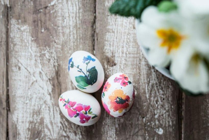 Ei taha värvidega jännata? 5 lihtsat ja kiiret munade kaunistusnippi