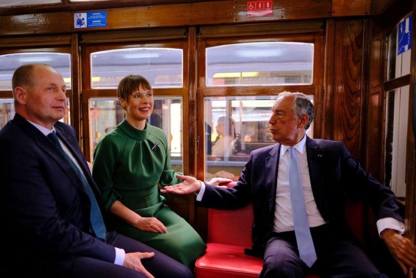GALERII   President Kaljulaidi Portugali visiidist ei puudu trammisõit, paraad ega Eesti sisepoliitika ajamine