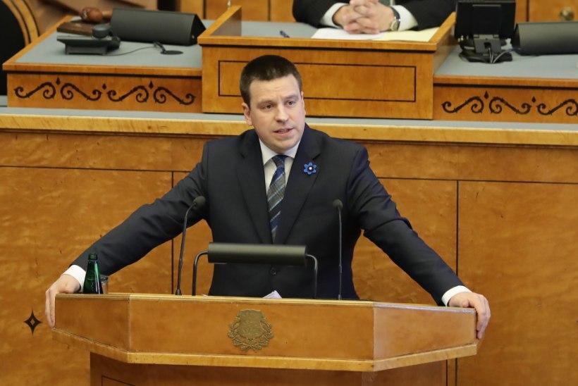 GALERII | Üle kolme tunni püstijalu turmtule all olnud Ratasest sai jälle peaminister