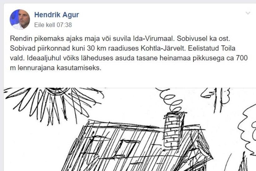 Hendrik Agur otsib Ida-Virumaale kodu. Vaata, mis kriteeriumi see peab täitma
