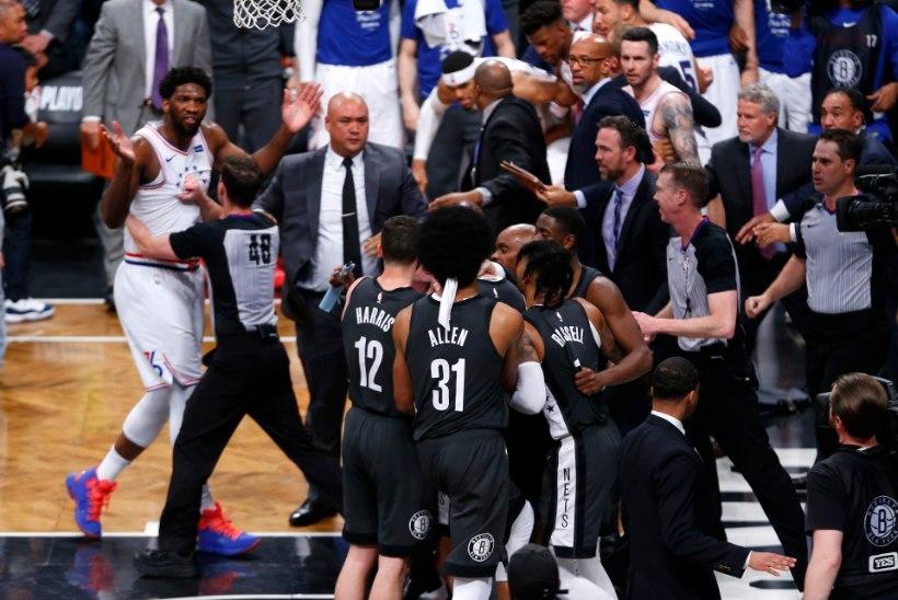 VIDEOD   Tulised NBA play-off´id: Brooklynis läks rüseluseks, habemik Harden ladus telliseid