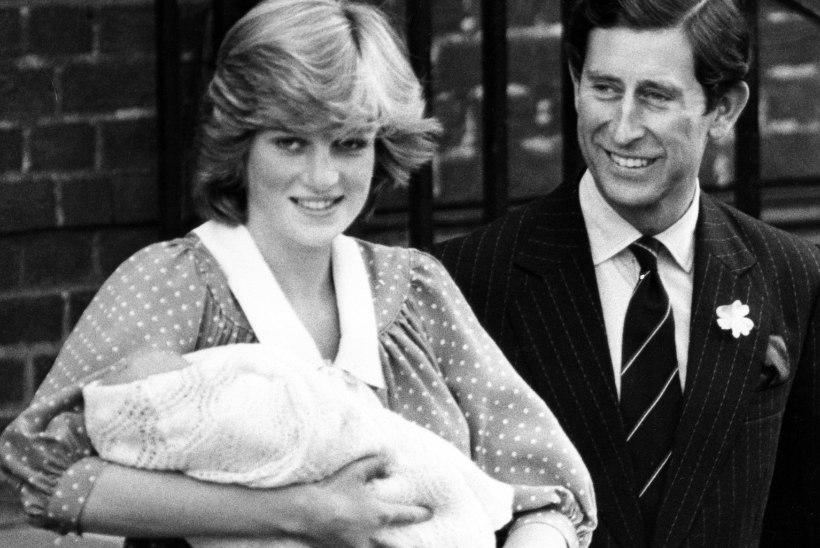 Printsess Diana suutis esiklapsega poseerides hädavaevu kõndida