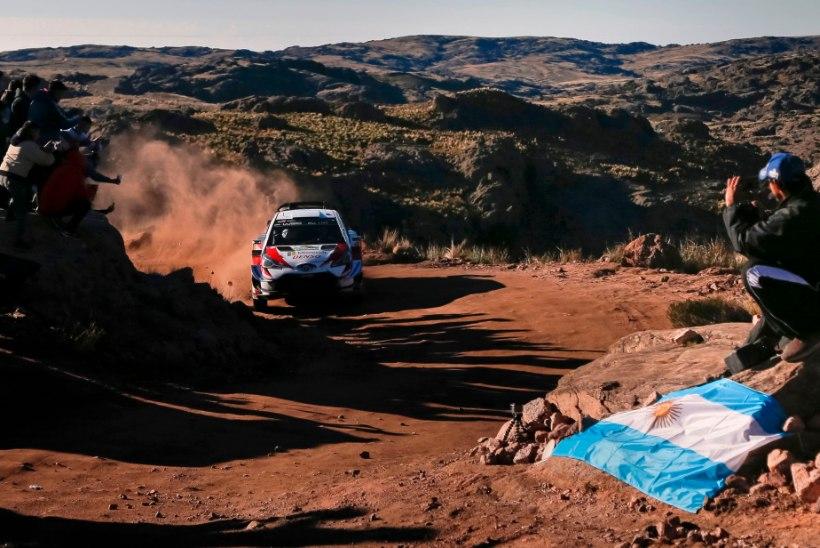 ARGENTINA RALLI HINDED   Probleemide küüsis Toyota kohal hõljuvad murepilved