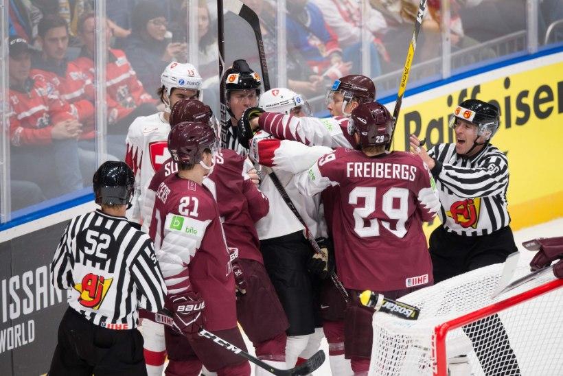 JÄÄHOKI MM | Lätlased teenisid esimese kaotuse, Rootsi ja Kanada näitasid musklit