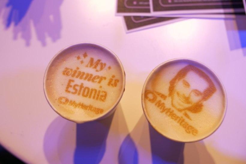 FOTOD | Eurovisioni pressikeskuses saab juua Victor Crone pildiga kohvi