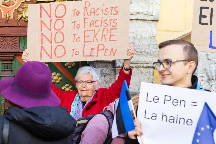VIDEO | Meeleavaldaja Ulme Muld: Le Pen on puhas Putini käsilane. See on eesti rahva petmine!