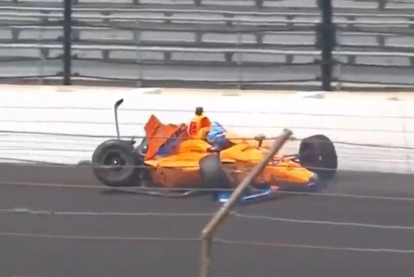 VIDEO | Fernando Alonso sõitis 360 kilomeetrise tunnikiirusega vastu seina