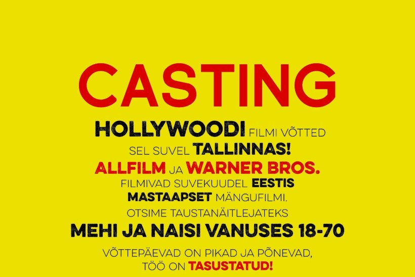HOLLYWOODI FILM EESTIS: casting'ule tulid nii supermodellid, rastapatsidega hipid kui ka dressides vanahärrad