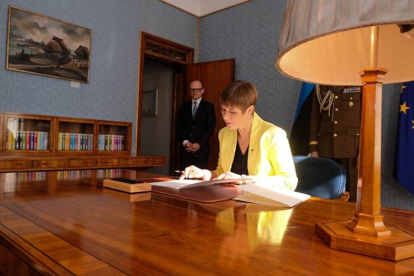FOTOD   President Kaljulaid nimetas minister Kingo ametisse