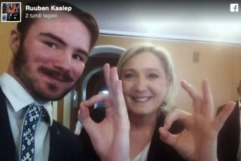 """New York Times: kas """"okei""""-selfi Kaalepiga võib kahjustada Le Peni võimalusi eurovalimistel?"""