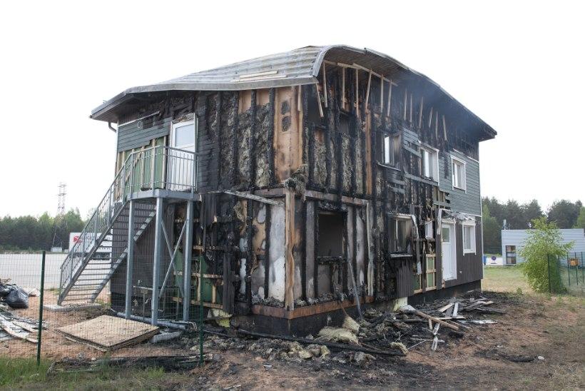 Pikne purustas Koidula piiripunkti lähedal asuva kohvikuhoone