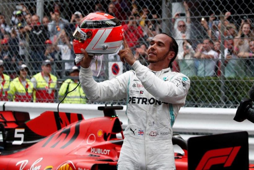 Monaco GP: Hamilton taas parim, teisena lõpetanud Verstappen sai karistada ja kukkus poodiumikohalt välja