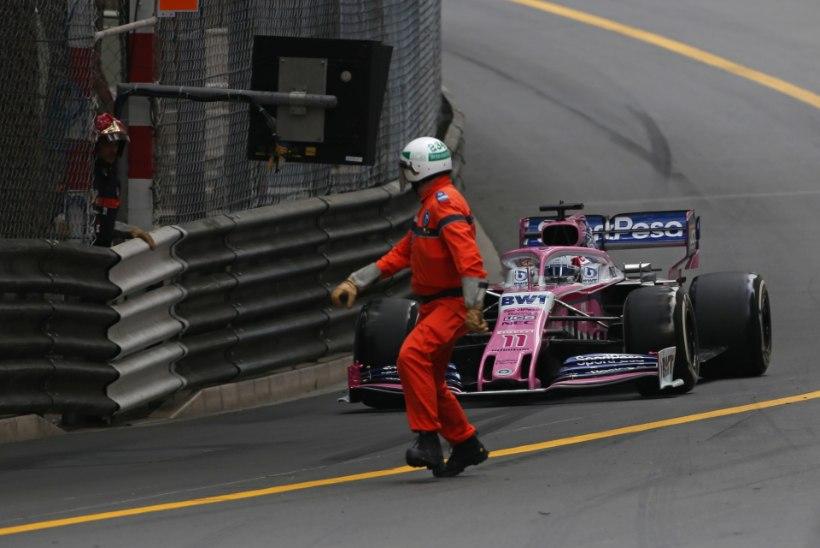 VIDEO | Monaco GP rajatöötajad tekitasid äreva olukorra. Piloot: ma oleks nad peaaegu surnuks sõitnud