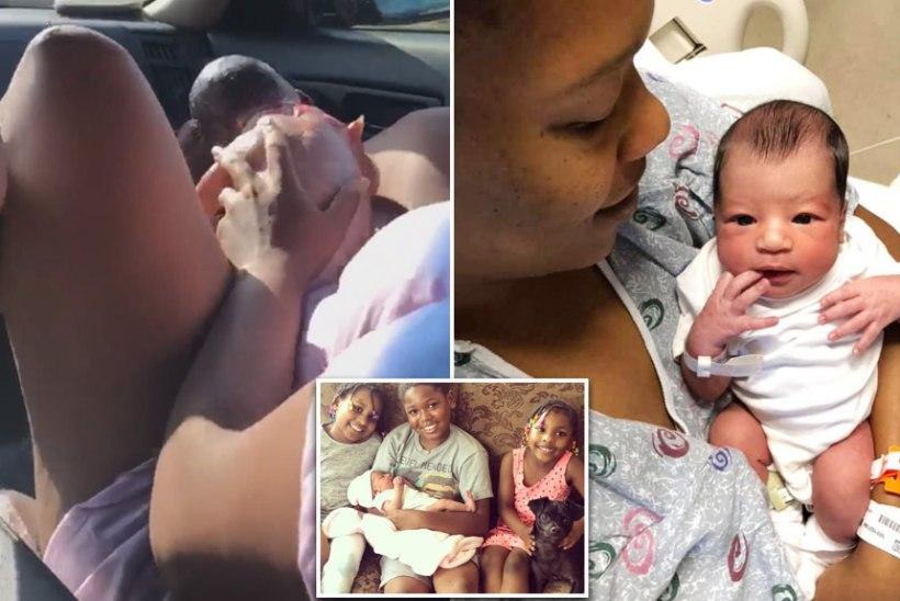 Женщина приняла у себя роды в машине на глазах у трех детей