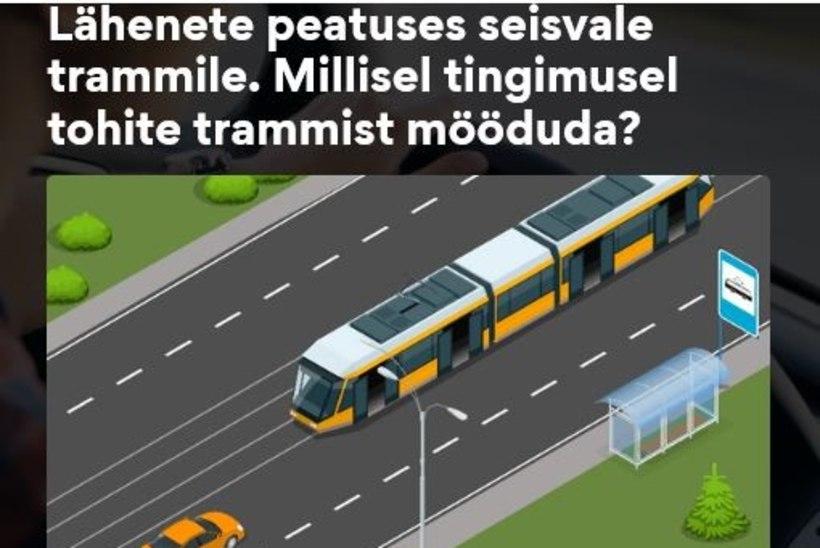 Küsimus | Kas avatud ustega trammist tohib autoga mööda sõita?