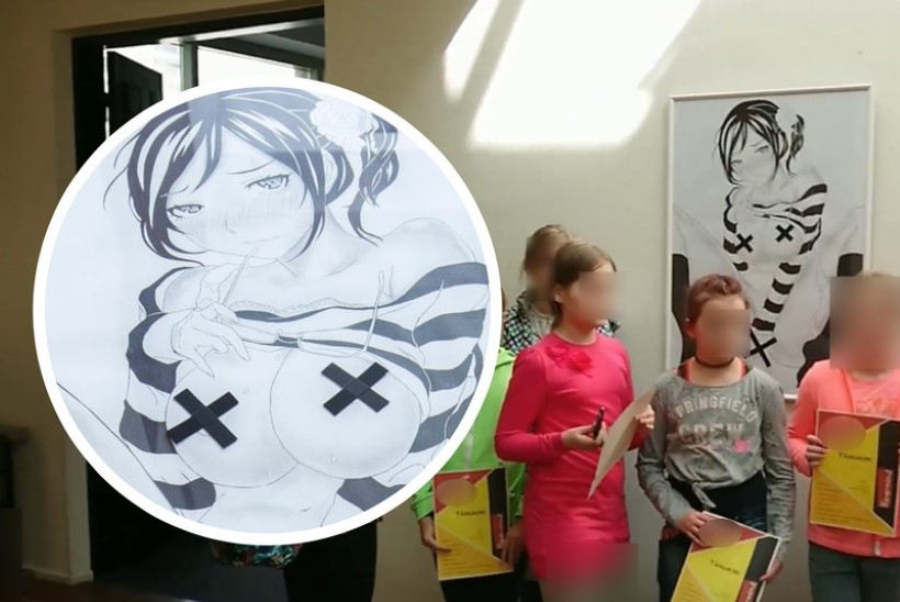 KUHU SILMI PEITA? Lapsed tulvasid kunstikooli näitusele, kus uhkeldab pilt eneserahuldajast