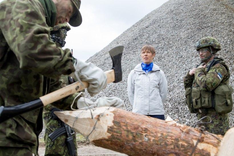 VIDEO JA GALERII   President Kaljulaid külastas Kevadtormil osalevaid üksusi