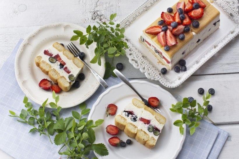 PÄEVARETSEPT | Suus sulav maasika-mustikatiramisu maitseb nagu pidu